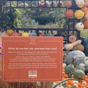 Harvest at Newfields: Tiny Poems Project
